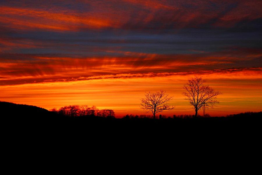 Sonnenuntergang in Ahlen